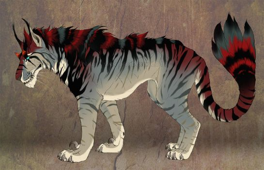 Indominus Cat - Character Sale - SOLD! by NadiavanderDonk