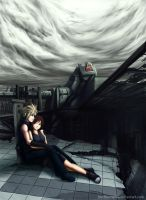 Cloud and Tifa in Midgard by HoZhuangShi