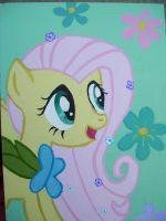 Fluttershy at the Gala by EquestriaPaintings