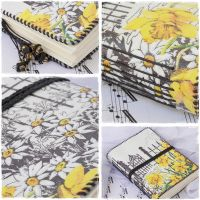 My Daffodil Garden Leather Journal by ChrisOnly