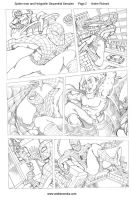 Spider-man and Hobgoblin Page 2 Sequential Sample by AndrePaploo