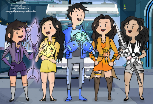 We're the Bravest Warriors! 1/2 by justixoxo