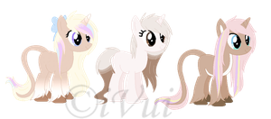 Pony Customs for BIeps by iVuiAdopts