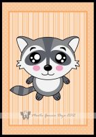 Kawaii Racoon by martagd