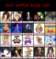 My Horror Movie Cast by FlyingPrincess
