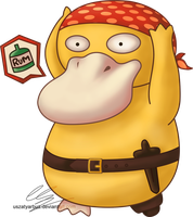 Pirate Psyduck - Buried Treasure for charity by UszatyArbuz