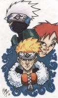 Naruto and friends by chris-foreman