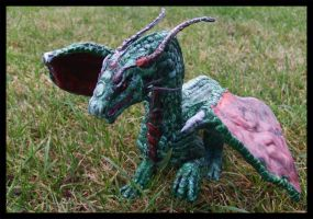 Green Dragon Sculpture IV by OrmIrian