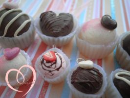 Chocolate truffle charms by ilikeshiniesfakery