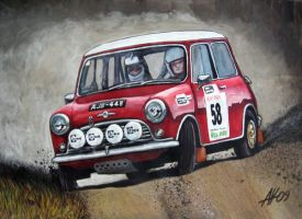 Classic rally Mini by Artbyantero