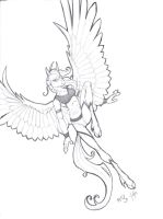 Pegasus anthro by evolra