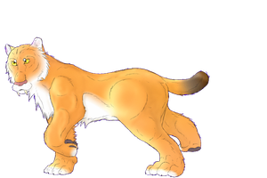 Saber Cat by crxzyduck