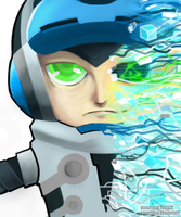 Beck Fanart - Mighty No. 9 by BonnyJohn