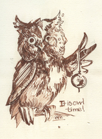 Owl Time by EiliEnie
