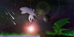 Chrysolite and Dragon by DragonThunderstorm