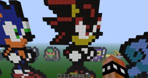 Minecraft Pixel Art Shadow by REV3LATIONS