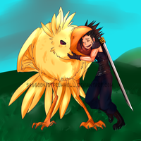 Chocobos go NOM NOM NOM by BassoonistfromHell