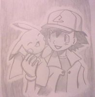 Ash and Pikachu by pokefan444