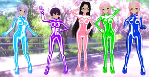 Koihime Musou Go bodysuits by quamp