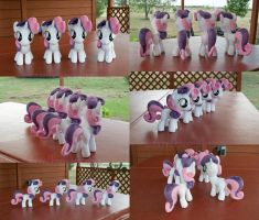 CMC Sweetie Belle Clones, YAY! by adamlhumphreys