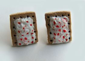Strawberry Poptart Earrings by yobanda
