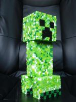 Jumbo 3D Perler Minecraft Creeper by SirEschaton