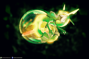 Rayquaza Pokeball by Jonathanjo
