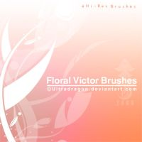 Floral Vector Brushes by Ultradragon