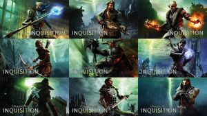 Dragon Age: Inquisition Companion Wallpapers by MatticusIV