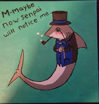 Dapper Senpai Notice Me Shark by AgentEvans