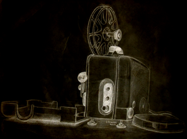 Weekly Sketch #2 - Old School Cinematograph by dtaskonak