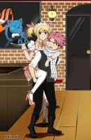 NaLu with Happy [Maid and Butler] by LeBishoujo