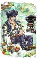 Alcor -revised - barbecue time by CrazyHunkLord