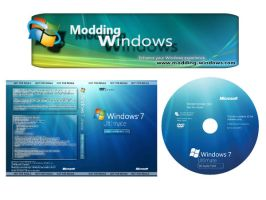 Windows 7 RC build 7100 Cover by 4d-system