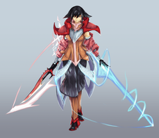 Valiant Force Contest: Aoray of the Aura Blades by TransFlame