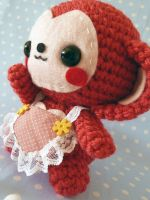 Mother's Day monkey amigurumi by cuteamigurumi