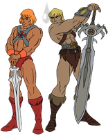 He-man vs He-man by FaGian