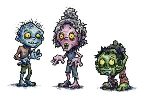 Zombie Character Studies by jbrenthill