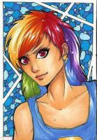 ACEO 67: Colorful Hair by Forunth
