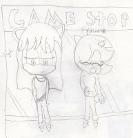 Waiting at game stop by QueenIntrovert