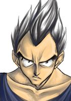 SAIYAN PRINCE VEGETA by Honeyeater