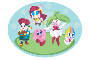 Steenee with the Kirby Crew