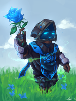 Blue Rose by FriedSnipe