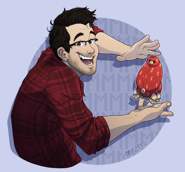 Markiplier and MMMMMMMMMMMMMMMM by mirzers