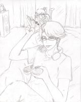 Ronald and Grell sketch 1 by undercreed-genesis