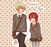 HP: Scorpius x Rose by shiriomi