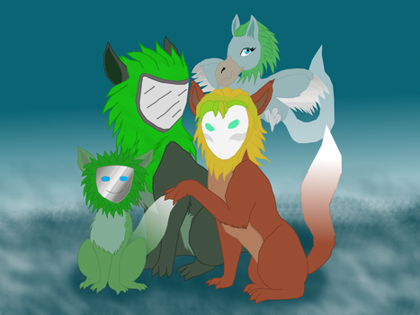 Anais and Her Daughters by AshWolf-Forever
