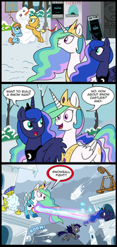 MLP: Wanna build a snow man? (Commissioned) by tan575