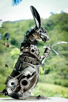 Rabbit metal art by Mari9art by Mari9art