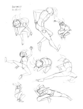Amy Action Poses Sketches by whymeiy